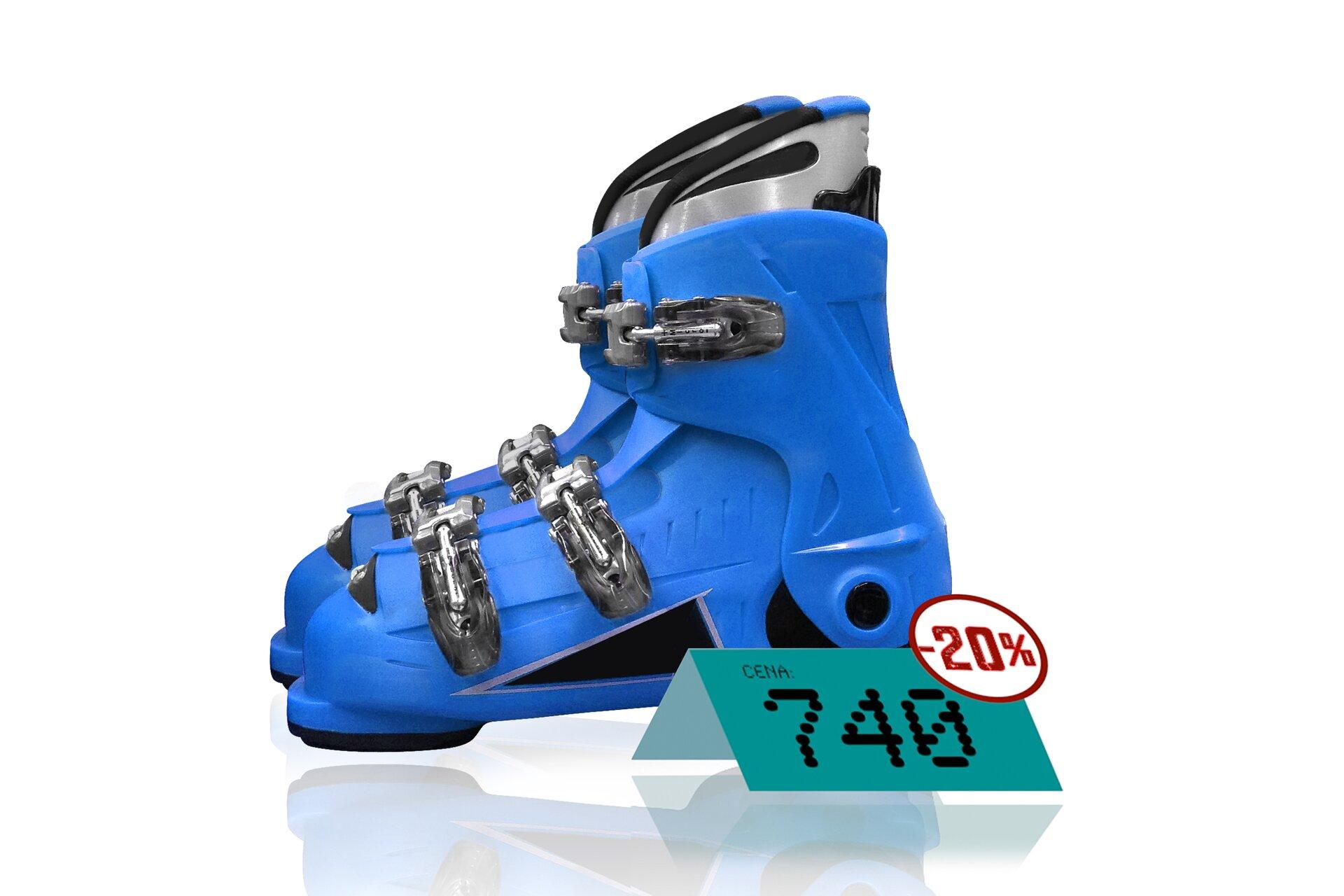 Rysunek butów narciarskich.