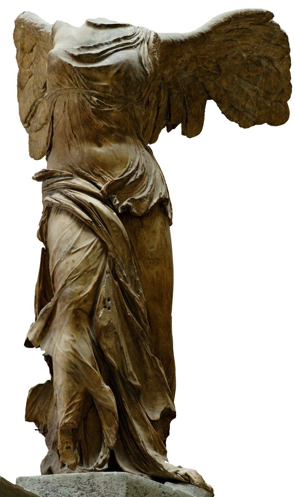 Nike zSamotraki Źródło: Nike zSamotraki, ok. 190–160 p.n.e., marmur, Luwr, domena publiczna.