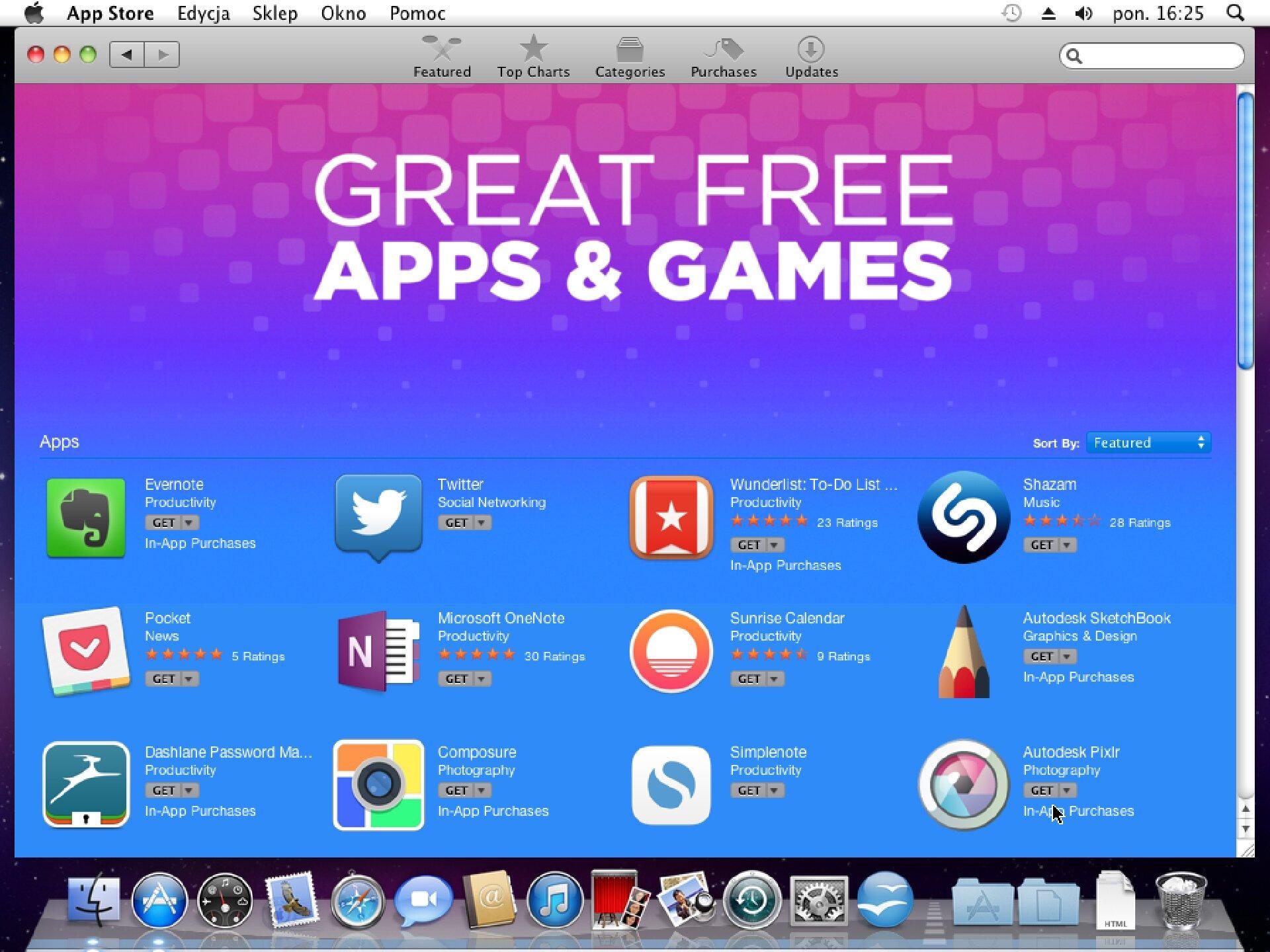 Zrzut okna 2 procesu instalacji programu wsystemie Mac OS X