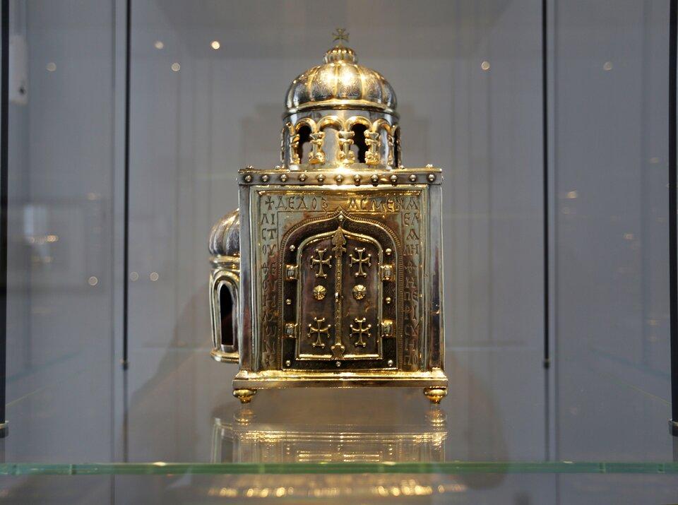 Relikwiarz ze szczątkami św. Anastazji Relikwiarz ze szczątkami św. Anastazji Źródło: HOWI, licencja: CC BY-SA 3.0.