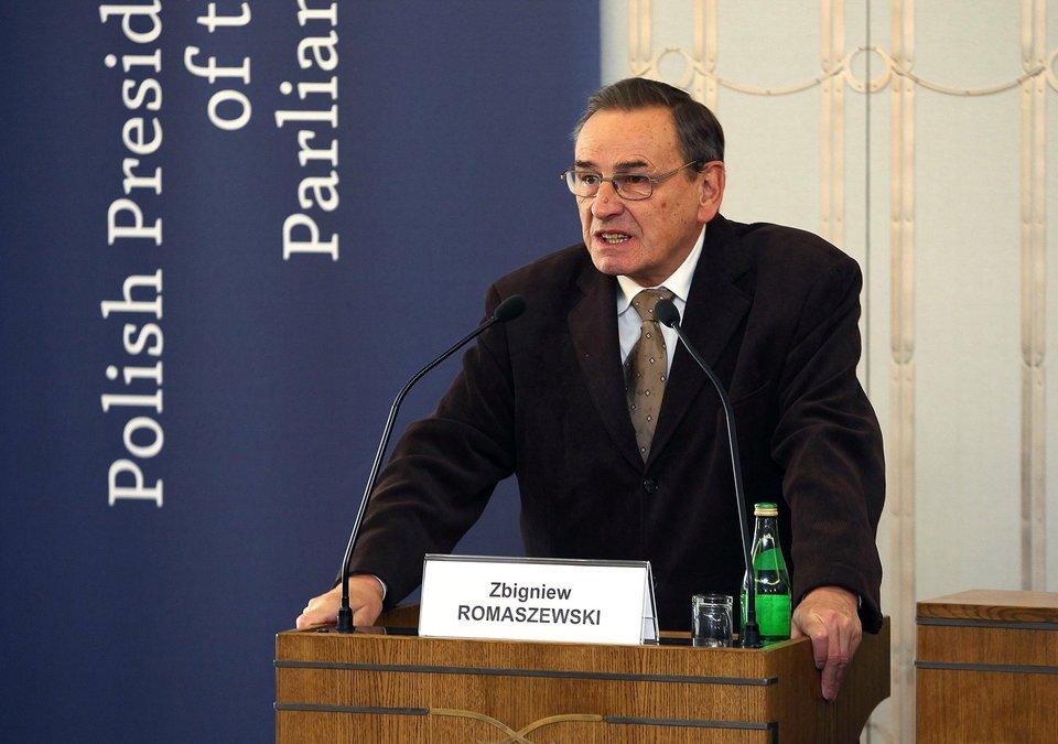 Zbigniew Romaszewski, rok 2011, wówczas wicemarszałek Senatu