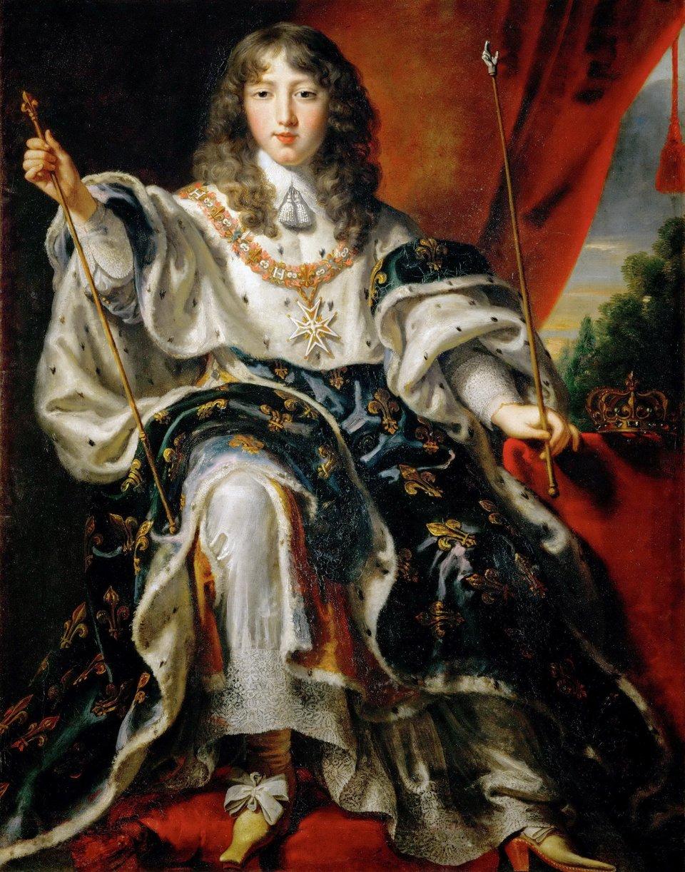 Portret Ludwika XIV wstrojukoronacyjnym jeszcze wwieku dziecięcym. Namalowany został przez Justusa van Egmonta (1601-674), malarza niderlandzkiego, działającego m.in. wParyżu. Podczas frondy parlamentarnej iksiążęcej Ludwik był jeszcze wwieku dziecięcym, ale świetnie zapamiętał strach iupokorzenie związane zkoniecznością ucieczki dworu królewskiego zParyża. Portret Ludwika XIV wstrojukoronacyjnym jeszcze wwieku dziecięcym. Namalowany został przez Justusa van Egmonta (1601-674), malarza niderlandzkiego, działającego m.in. wParyżu. Podczas frondy parlamentarnej iksiążęcej Ludwik był jeszcze wwieku dziecięcym, ale świetnie zapamiętał strach iupokorzenie związane zkoniecznością ucieczki dworu królewskiego zParyża. Źródło: Justus van Egmont, XVII w., olej na płótnie, Zamek Ambras, domena publiczna.