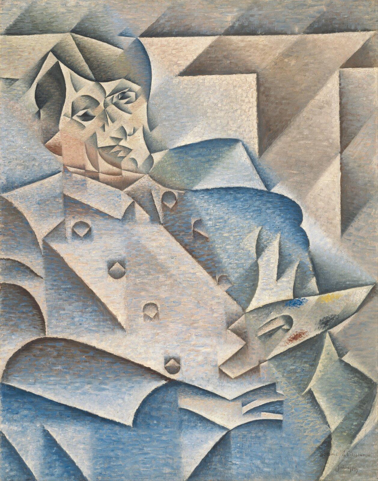 Portret Pabla Picassa Źródło: Juan Gris, Portret Pabla Picassa , Olej na płótnie, Art Institute of Chicago , domena publiczna.