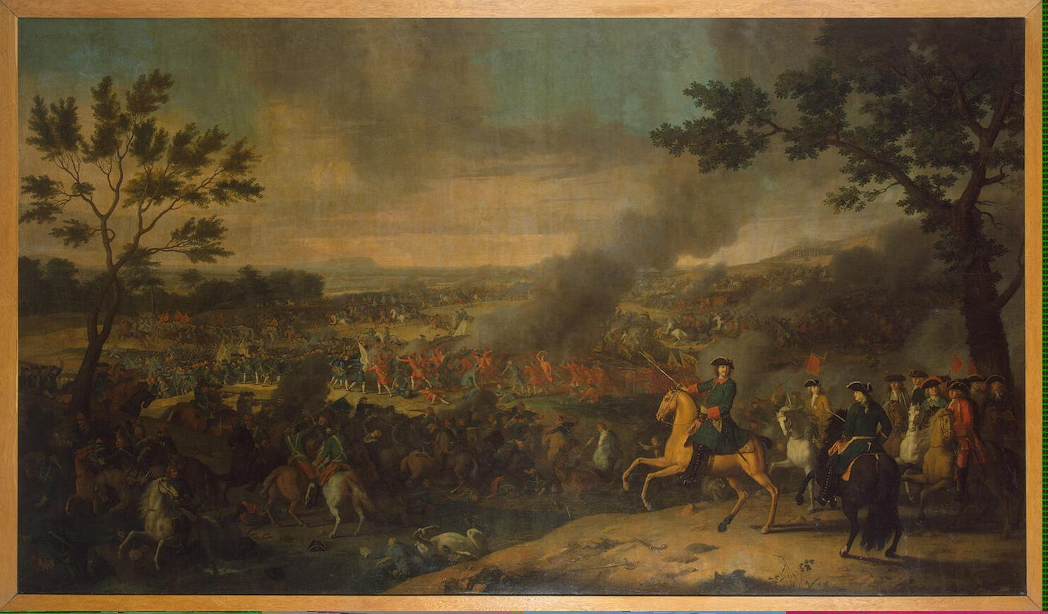Car Piotr Iwbitwie pod Połtawą Źródło: Louis Caravaque, Car Piotr Iwbitwie pod Połtawą, 1718, domena publiczna.