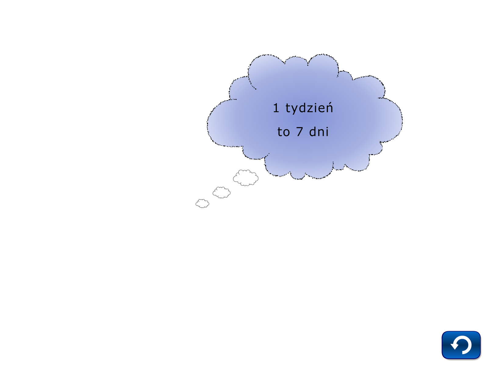 Pamięciowe dzielenie, zadanie 8, chmurka, tydzień