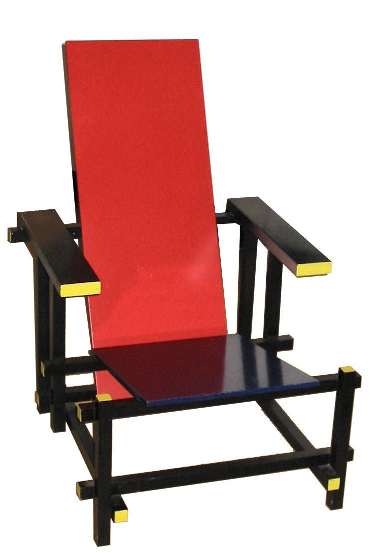 Red blue chair Źródło: Gerrit Rietveld, Red blue chair, 1923 (według projektu z1917 roku), licencja: CC BY-SA 3.0.