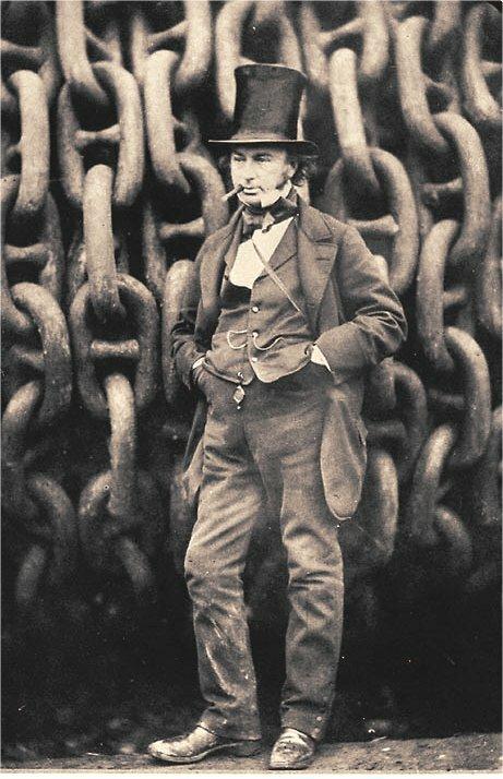 Isambard Kingdom Brunel Isambard Kingdom Brunel Źródło: Robert Howlett, 1857, domena publiczna.