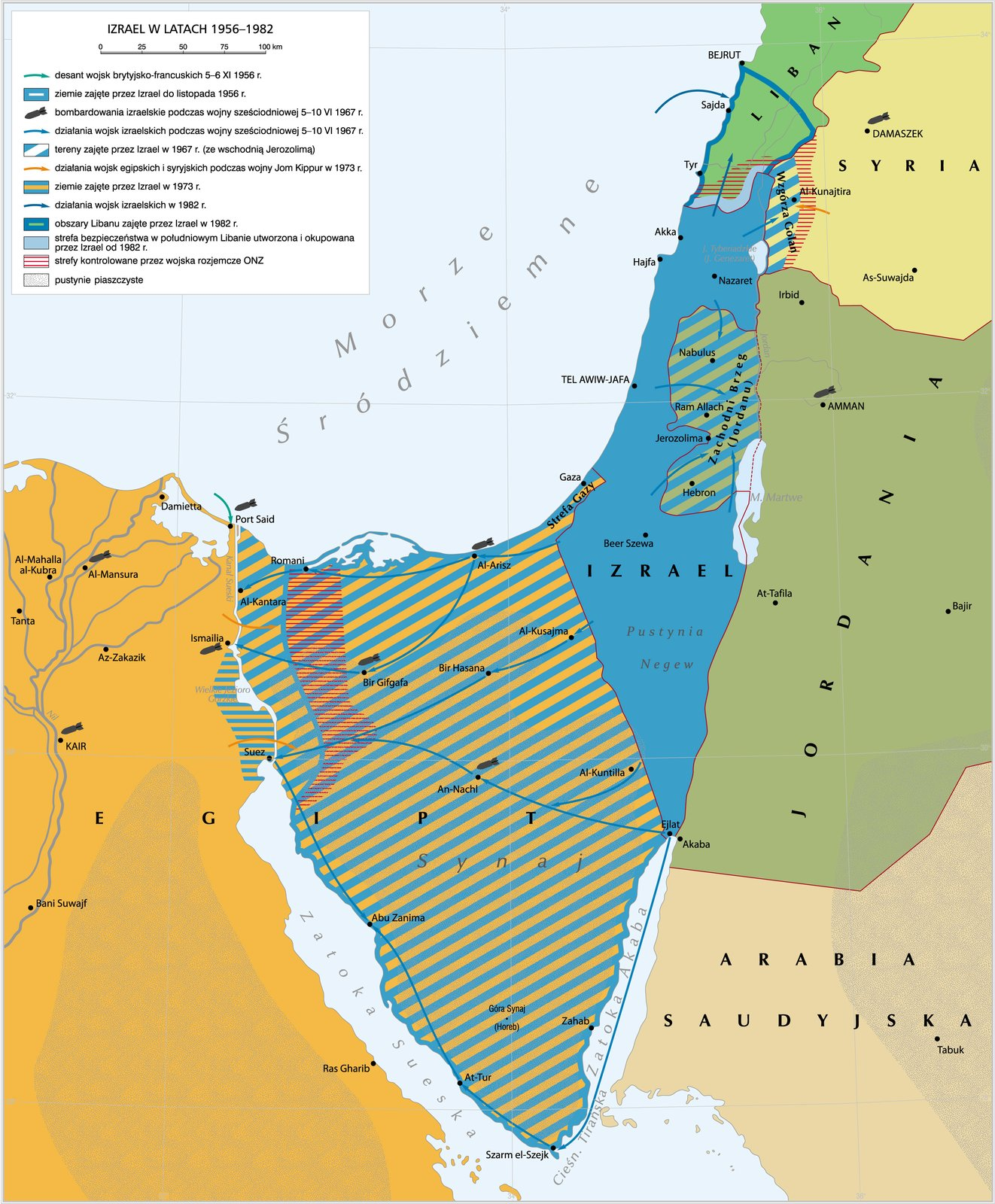 Izrael wlatach 1956–1982 Izrael wlatach 1956–1982 Źródło: Krystian Chariza izespół.