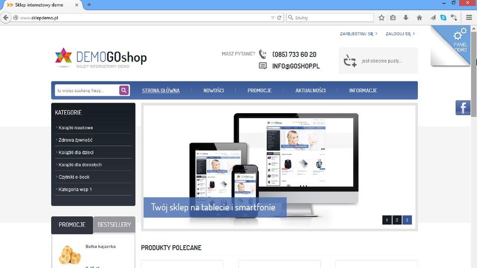 Widok strony DemoGoShop