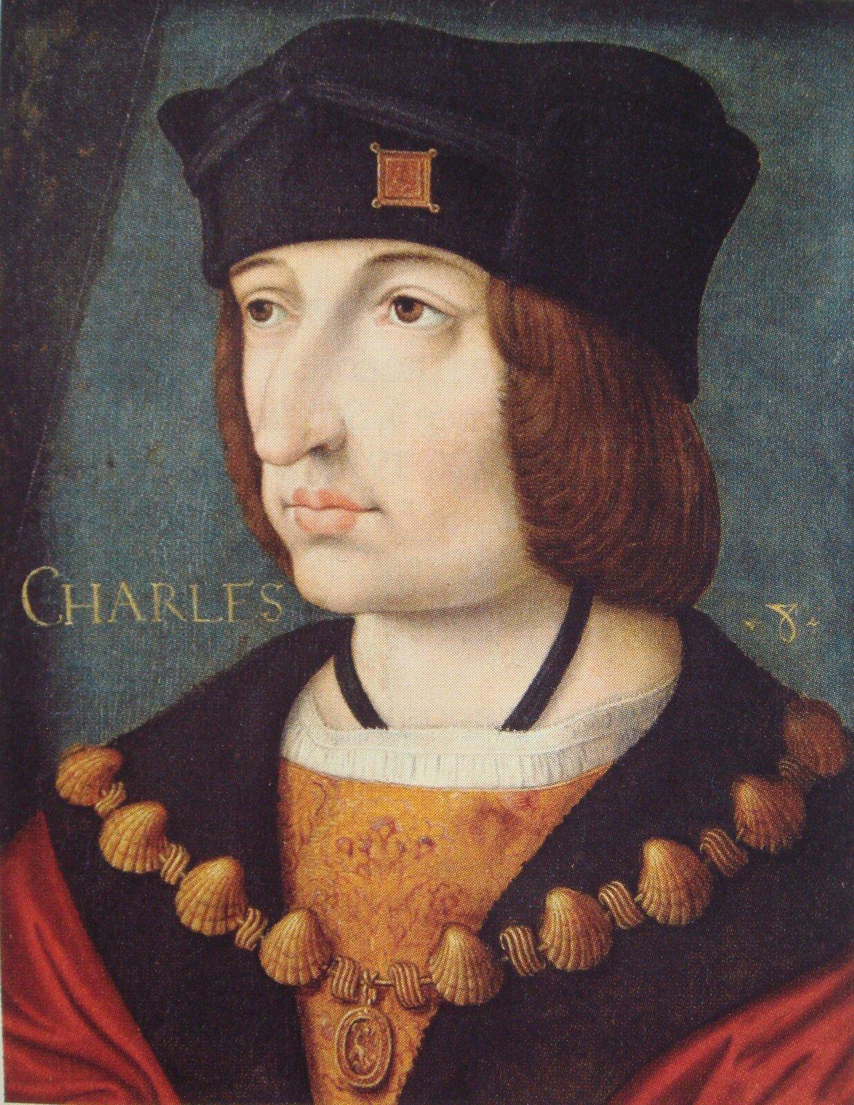 Portret Karola VIII, króla Francji (1483-1498), namalowany wXVI w.przez nieznanego artystę. Portret Karola VIII, króla Francji (1483-1498), namalowany wXVI w.przez nieznanego artystę. Źródło: XV w., olej na drewnie, Muzeum Condé, domena publiczna.