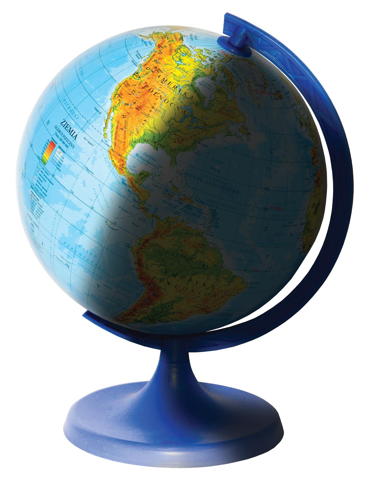 Fotografia prezentuje globus, którego lewa połowa jest oświetlona, aprzeciwna prawa połowa zacieniona.