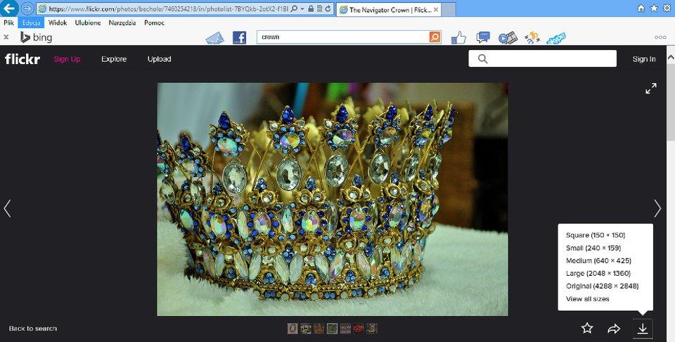 Zrzut okna strony http://www.flickr.com zwybranym zdjęciem do sciągnięcia