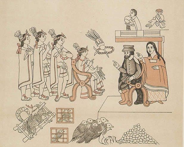 Spotkanie Montezumy II zCortezem SpotkanieMontezumy II, ostatniego władcy Azteków zHernanem Cortezem, hiszpańskim konkwistadorem w1519 roku. Źródło: Spotkanie Montezumy II zCortezem, ok. 1890, domena publiczna.