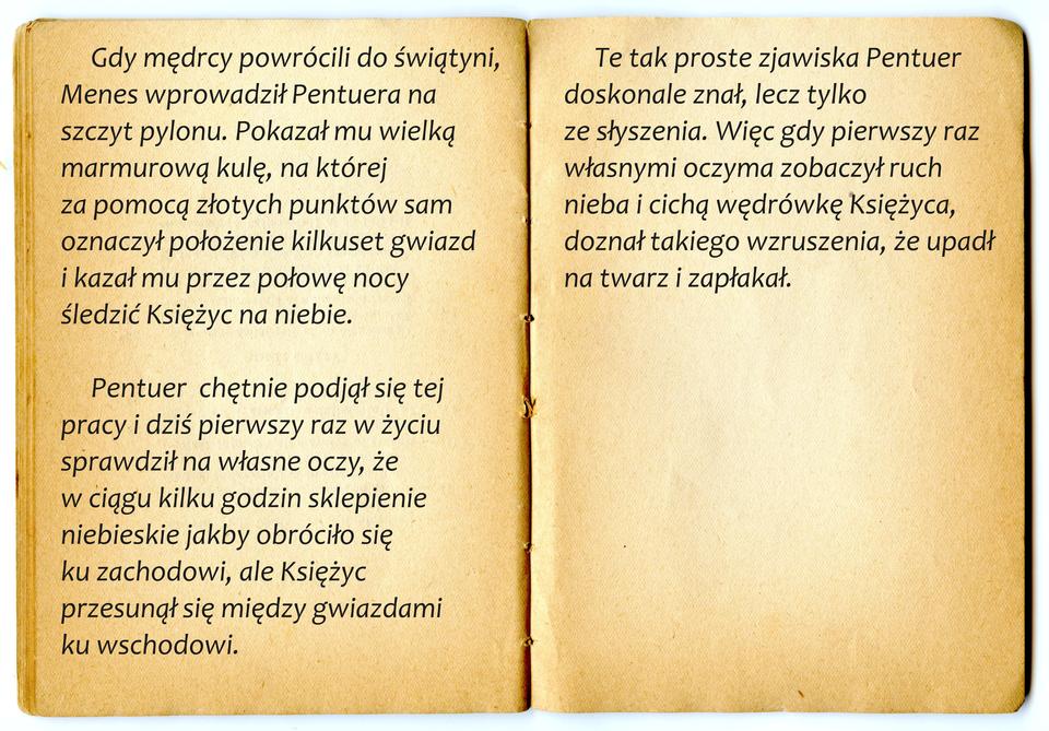"Cytat zpowieści Bolesława Prusa ""Faraon"""