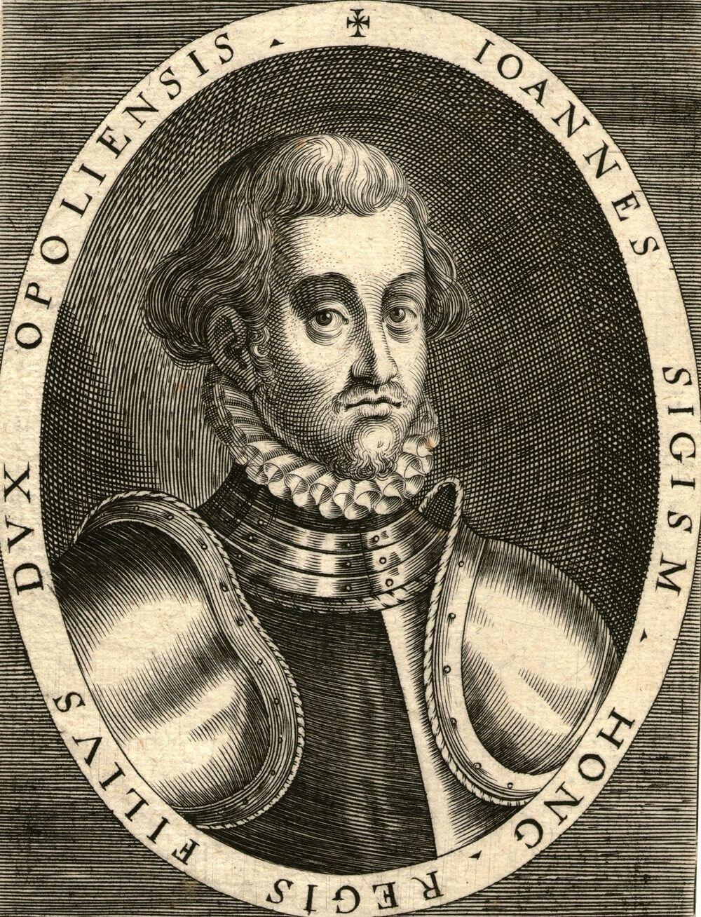 Jan Zygmunt, syn króla węgierskiego, książę opolski Jan II Zygmunt Zápolya, syn króla węgierskiego, Jana Zápolyi oraz Izabeli Jagiellonki, córki króla Polski Zygmunta IStarego. Wybrano go następcą tronu jeszcze wkołysce, ale nigdynie zostałkoronowany, ajego władztwo obejmowało tylkowschodnie rejony kraju. Koronowanym władcę Węgier był wtym czasieMaksymilian II Habsburg. Źródło: Dominik Custos, Jan Zygmunt, syn króla węgierskiego, książę opolski, ok. 1600 r., sucha igła, domena publiczna.