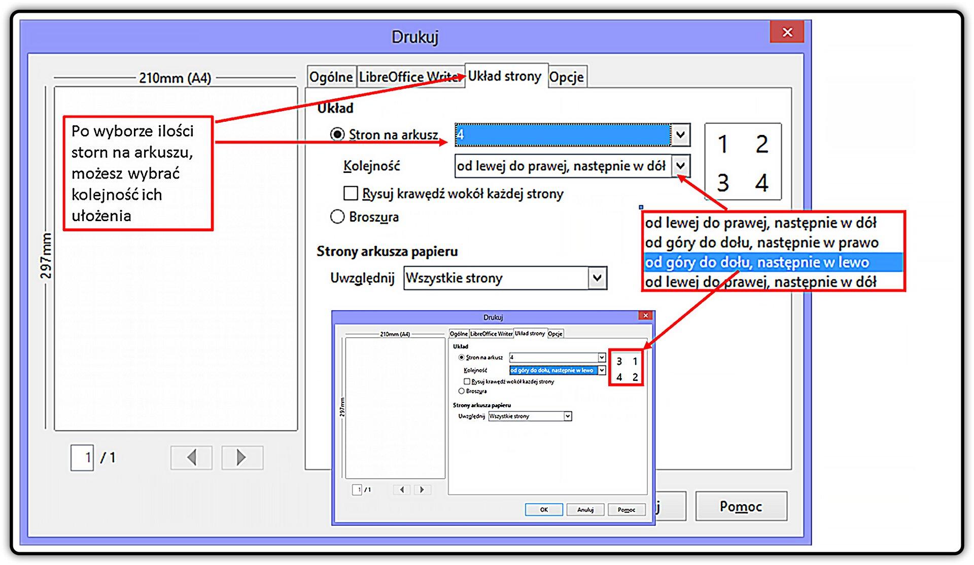 Slajd 4 galerii: Wjaki sposób przygotować wydruk dokumentu wprogramie LibreOffice Writer
