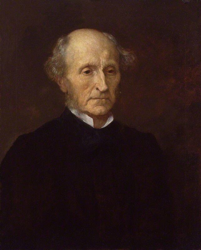 Portret Johna Stuarta Milla Portret Johna Stuarta Milla Źródło: Sir Charles Dikes, olej na plótnie, National Portrait Gallery wLondynie, domena publiczna.