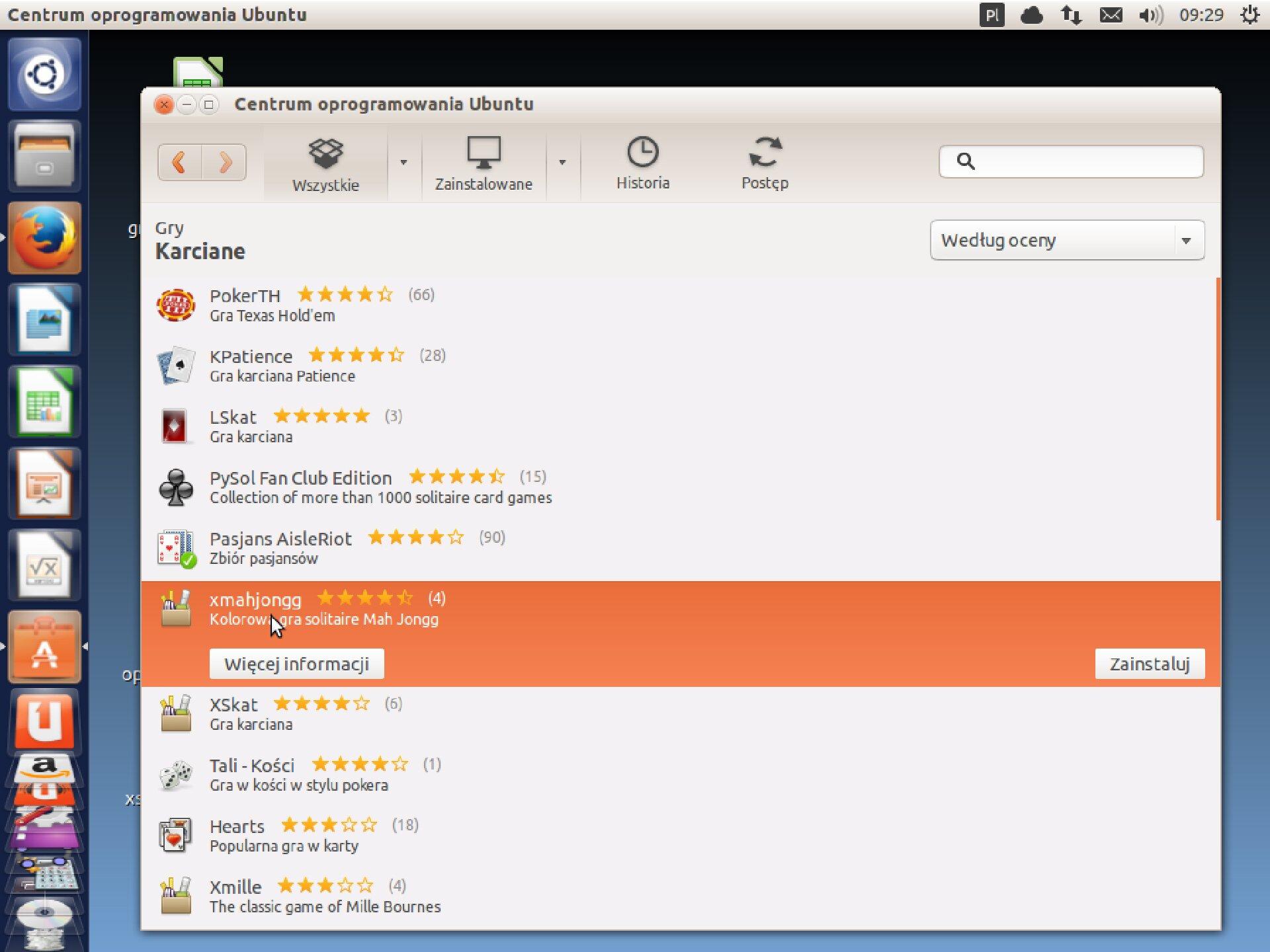 Zrzut okna 3 procesu instalacji programu wsystemie Linux Ubuntu