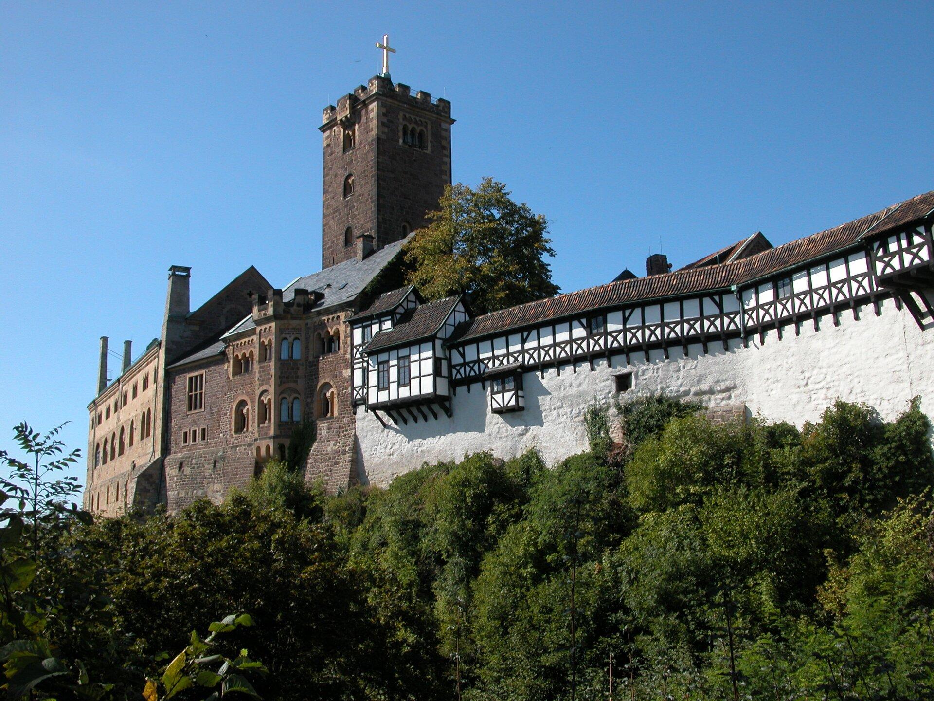 Zamek wWartburgu Zamek wWartburgu Źródło: Wikimedia Commons, licencja: CC BY-SA 2.0.