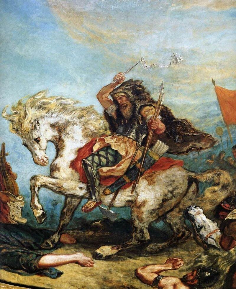 Attyla Źródło: Eugène Delacroix, Attyla, domena publiczna.