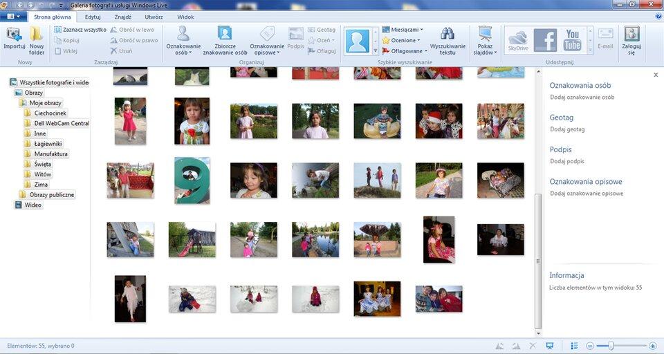Animacja: Galeria fotografii usługi Windows Live