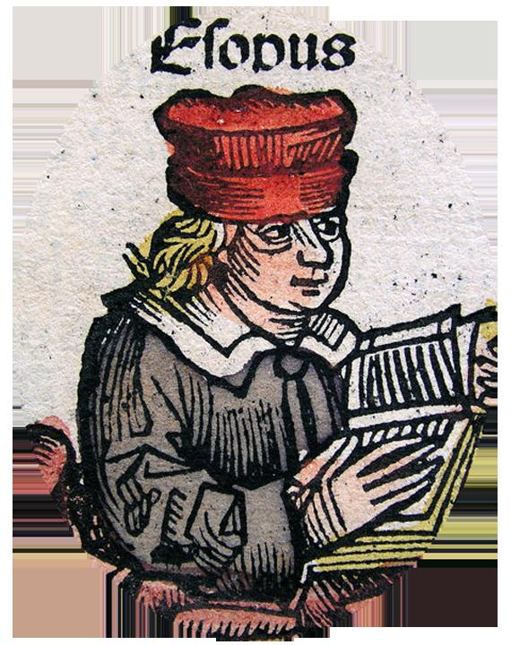 Ezop, [w:] Kronika norymberska Ezop, [w:] Kronika norymberska Źródło: 1493, domena publiczna.