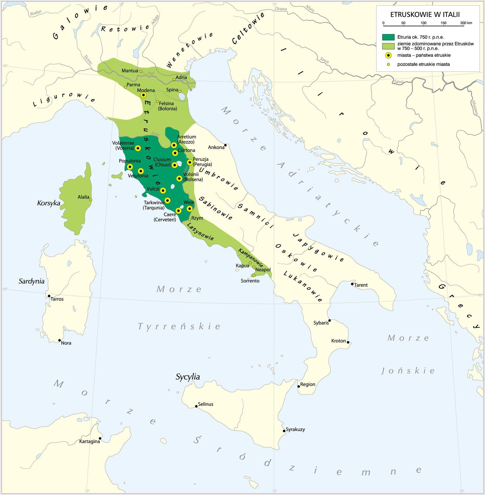 Państwo Etrusków Państwo Etrusków Źródło: Krystian Chariza izespół, licencja: CC BY 3.0.