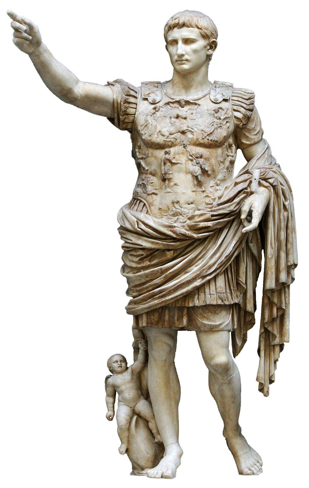 PosągOktawiana Augusta PosągOktawiana Augusta Źródło: Till Niermann, Wikimedia Commons, licencja: CC BY-SA 3.0.