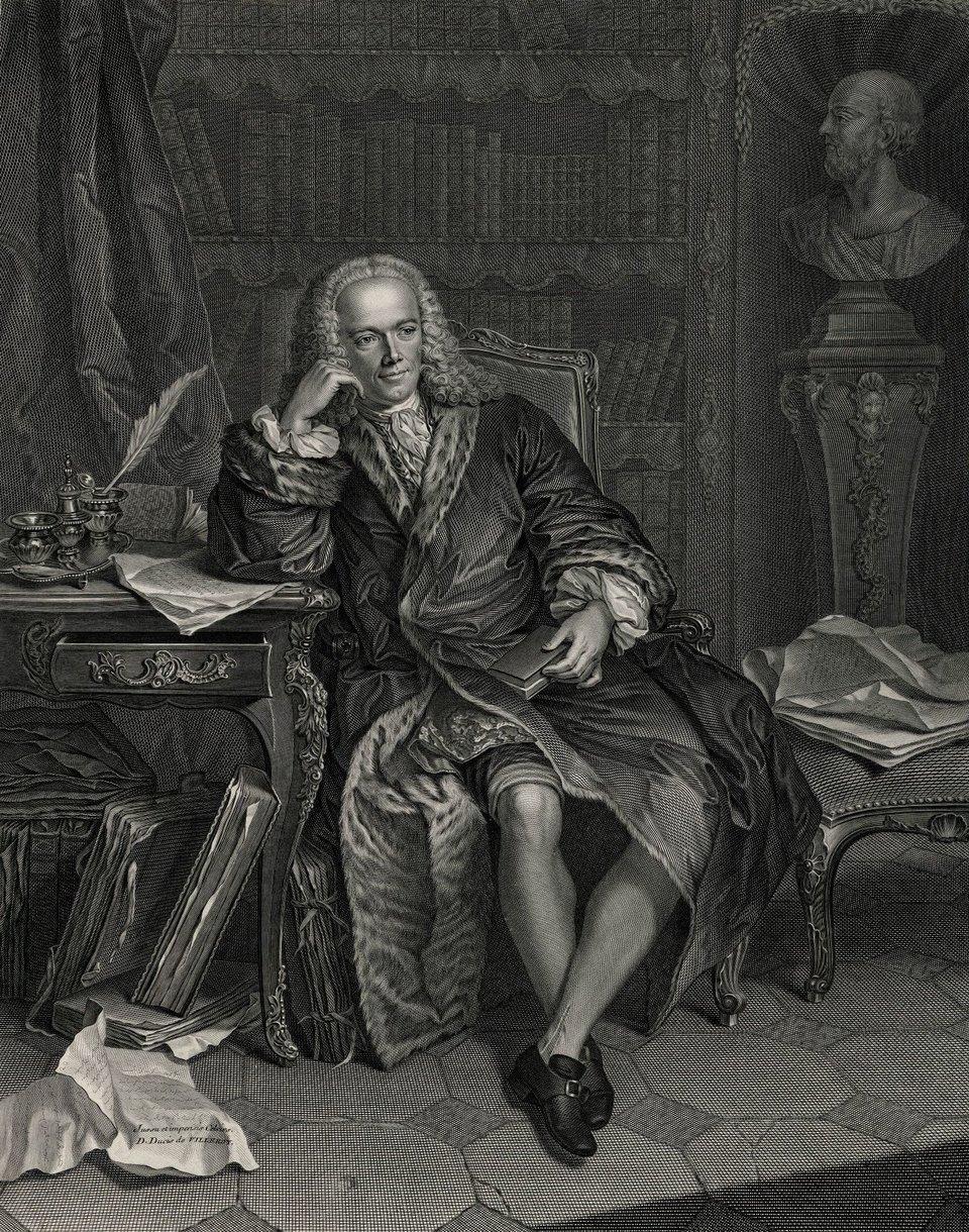 PortretFrançois Quesnaya – grafika na podstawie obrazu J.M. Frédou. PortretFrançois Quesnaya – grafika na podstawie obrazu J.M. Frédou. Źródło: Jean-Charles François, Jean-Martial Frédou, domena publiczna.