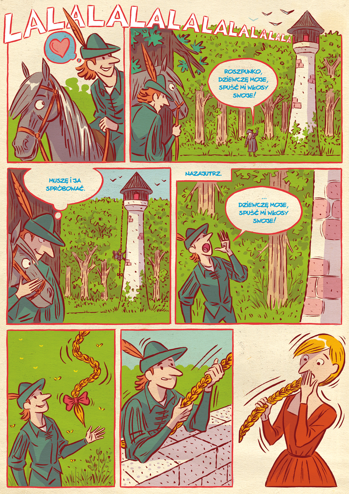 Komiks Roszpunka1 Źródło: Uniwersytet Wrocławski, licencja: CC BY 3.0.
