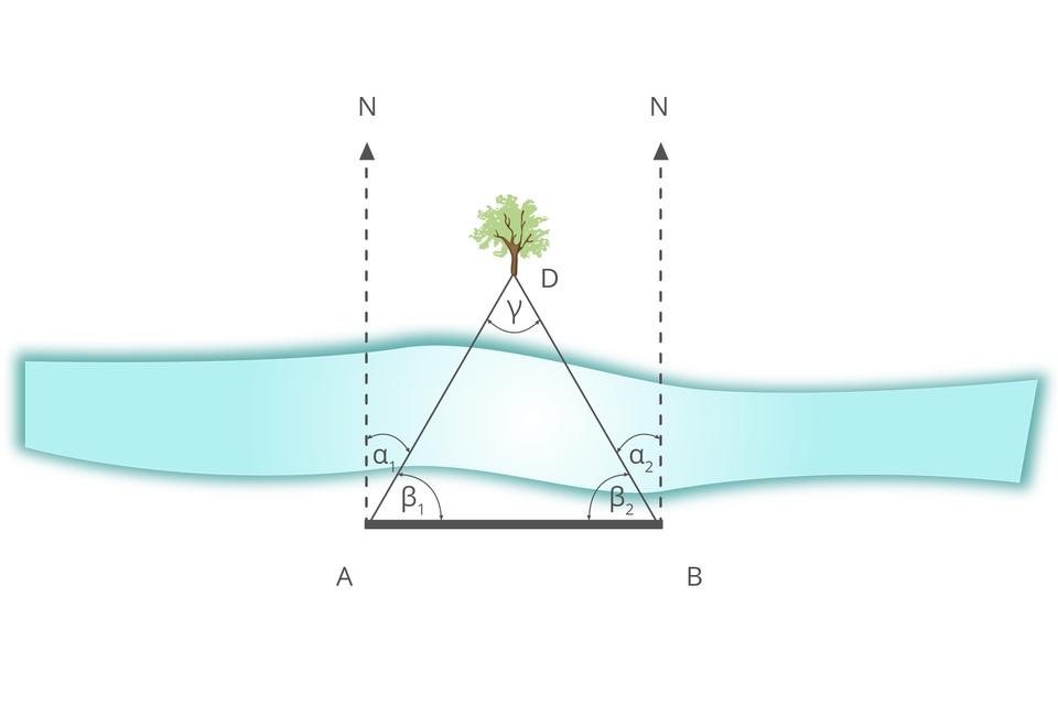 Grafika pokazująca jak wyznaczyć odległość drzewa