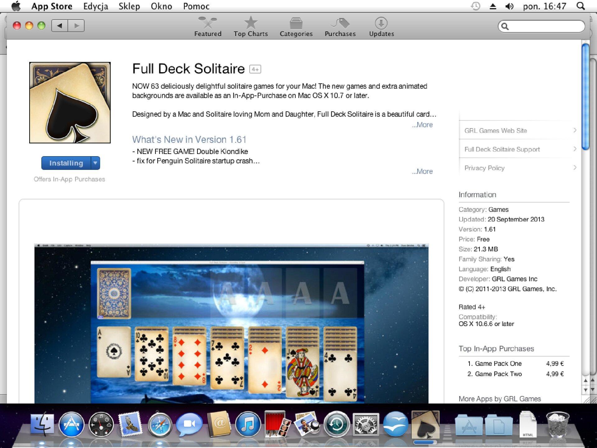 Zrzut okna 11 procesu instalacji programu wsystemie Mac OS X