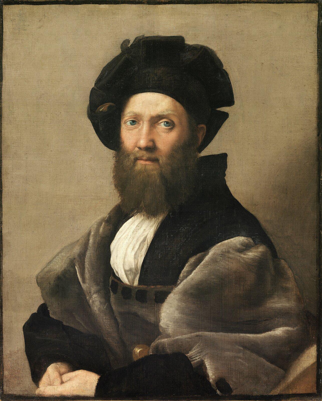 Castiglione Źródło: Rafael Santi, Castiglione, 1514–1515, olej na płótnie, Muzeum Luwr, domena publiczna.