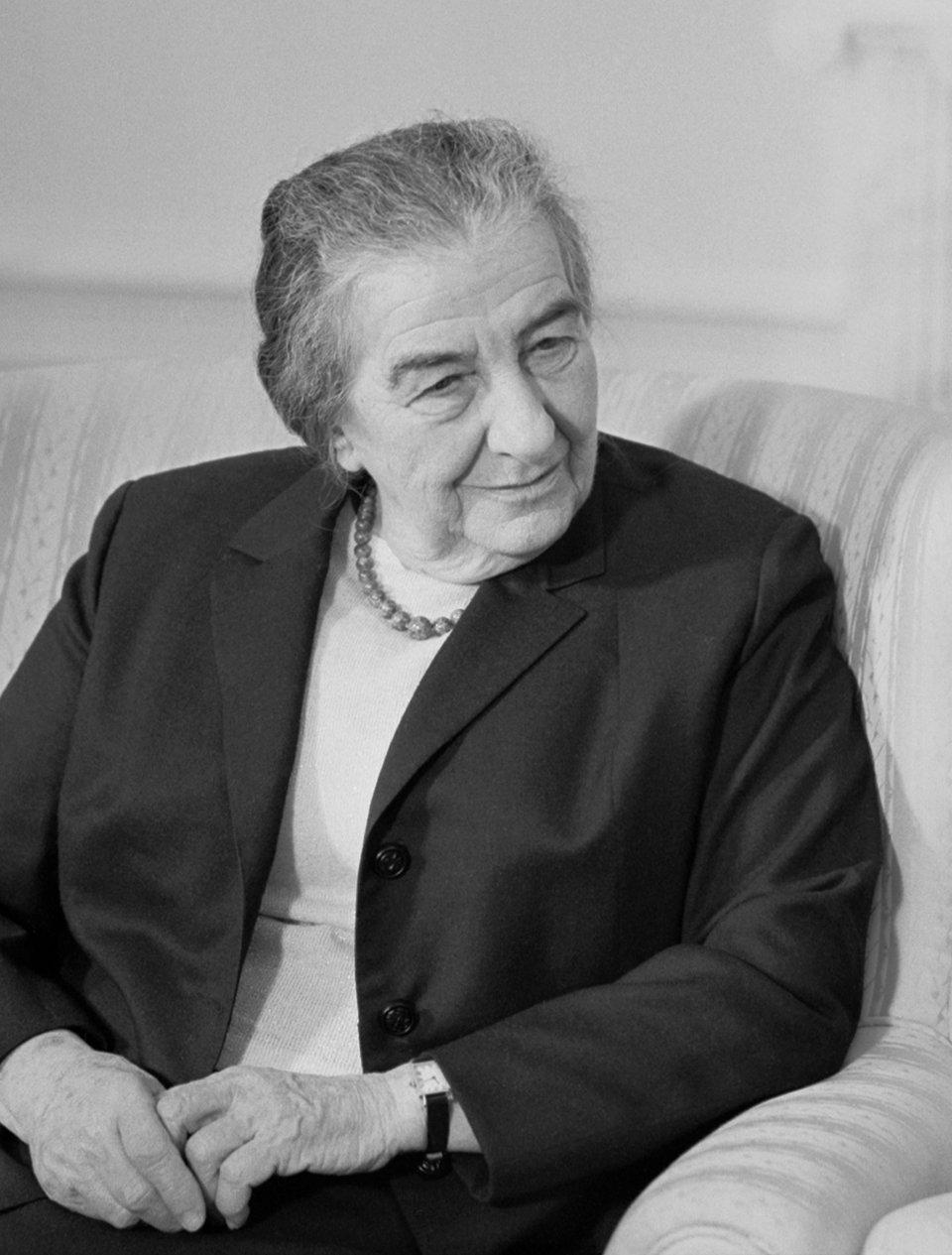 Golda Meir Źródło: Marion S. Trikosko, Golda Meir, domena publiczna.