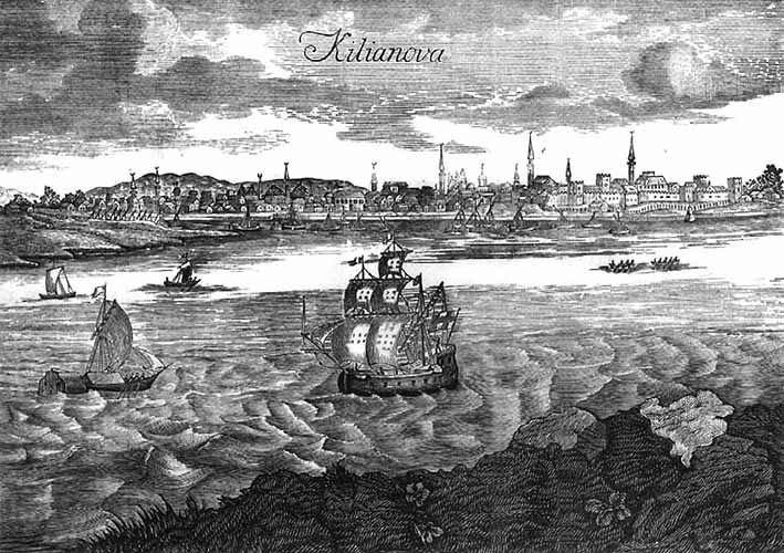 widok na port imiasto Kilia