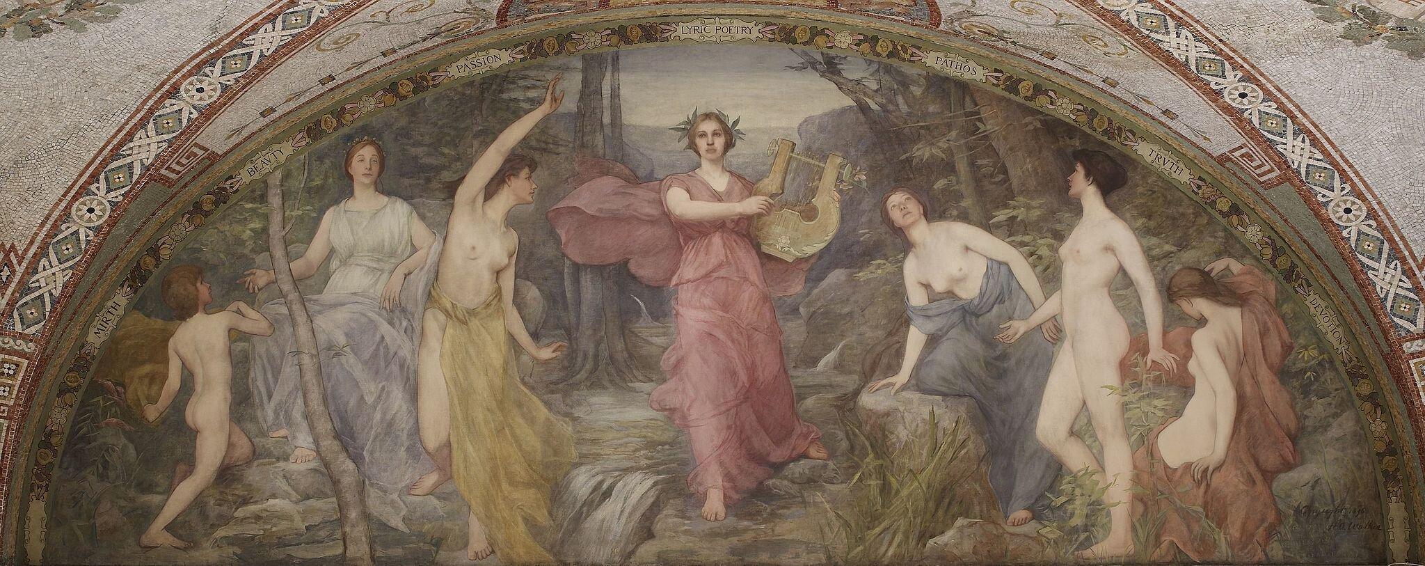Grecka Lira Safona Tyrtajos Symonides I Anakreont