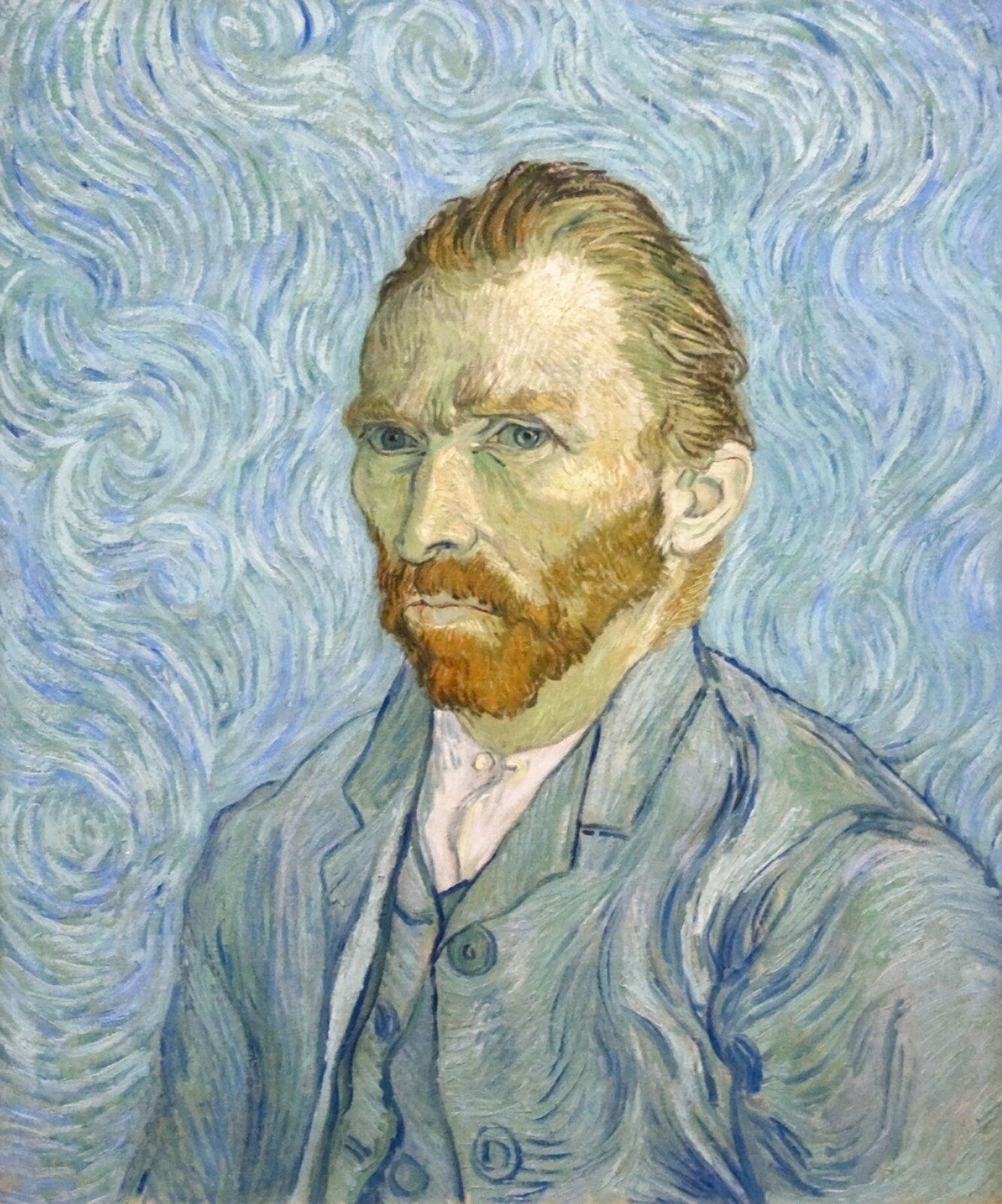 Vincent van Gogh, Autoportret, 1889 Źródło: Szilas, Vincent van Gogh, Autoportret, 1889, olej na płótnie, Musée d'Orsay, Paryż, licencja: CC 0.