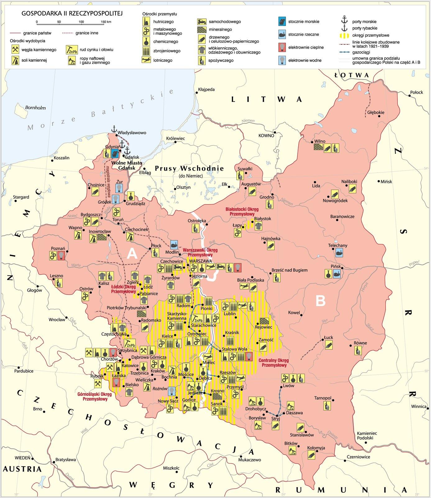 Gospodarka II Rzeczypospolitej Gospodarka II Rzeczypospolitej Źródło: Krystian Chariza izespół, licencja: CC BY 3.0.