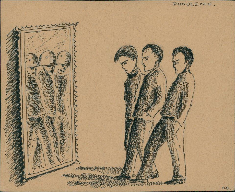 Krzysztof Kamil Baczyński, Pokolenie, rysunek, maj 1940 Krzysztof Kamil Baczyński, Pokolenie, rysunek, maj 1940 Źródło: domena publiczna.