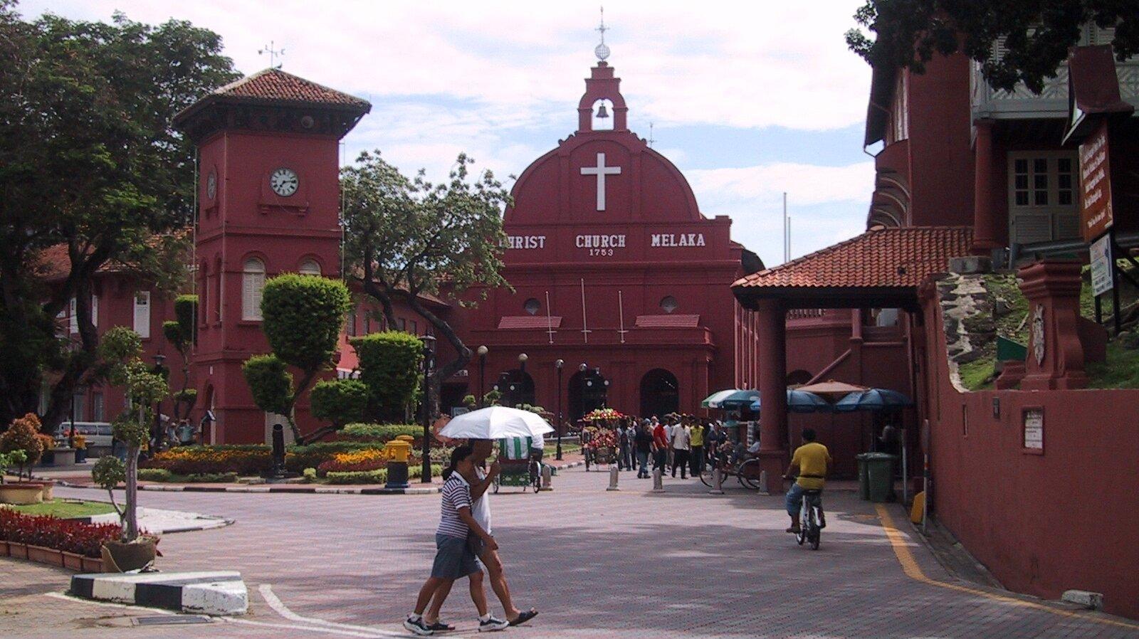 Dawna zabudowa kolonialna wMalakkce Dawna zabudowa kolonialna wMalakkce Źródło: AngMoKio, fotografia, domena publiczna.