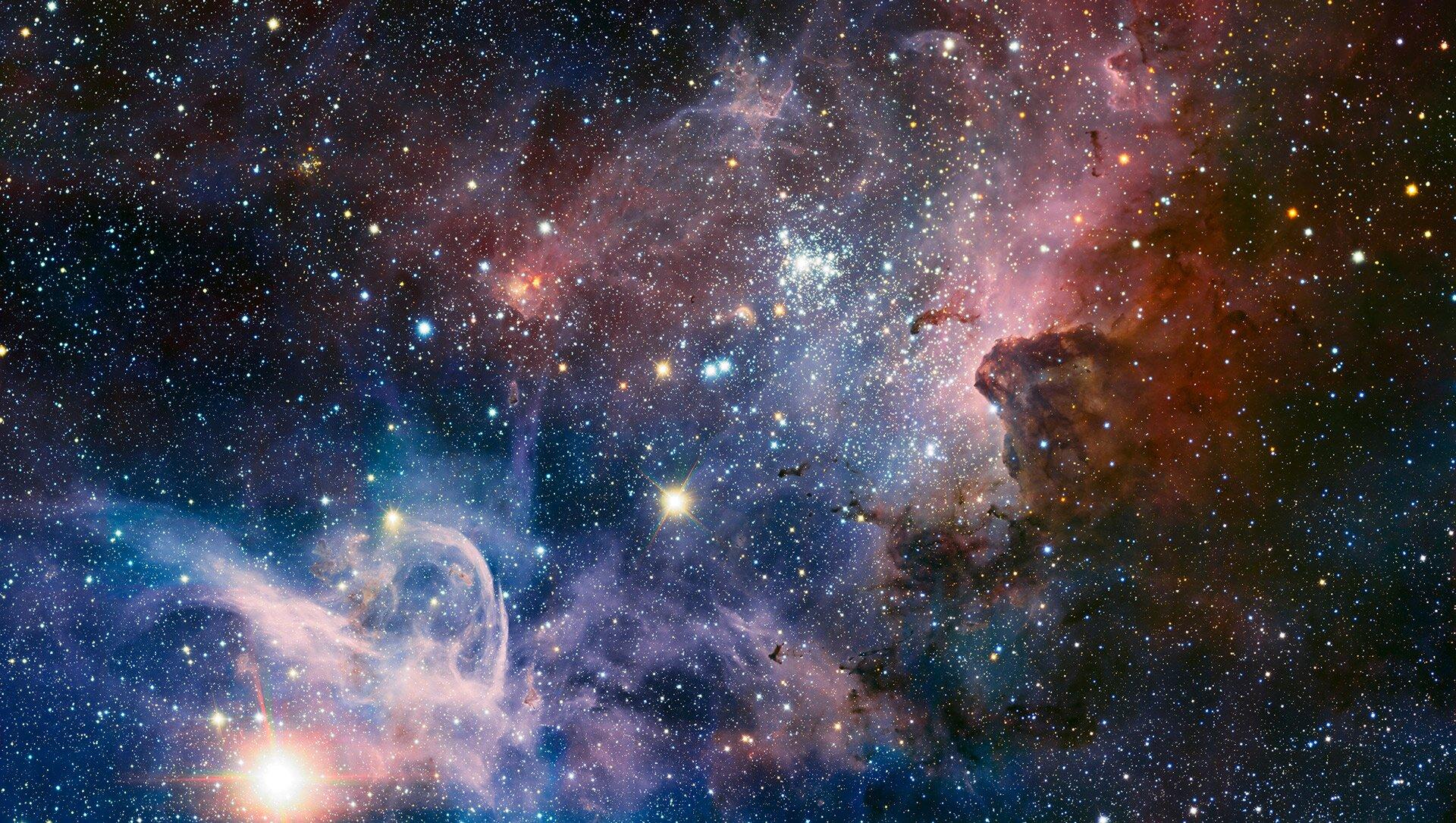 Kosmos (Mgławica Carina) Kosmos (Mgławica Carina) Źródło: ESO/T. Preibisch, fotografia, licencja: CC BY-SA 4.0.