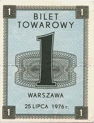 Pierwsza gierkowska kartka na cukier, lipiec 1976 Źródło: Pierwsza gierkowska kartka na cukier, lipiec 1976, domena publiczna.