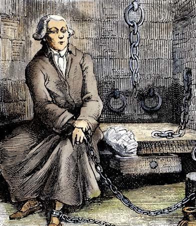 Markiz de Sade wwięzieniu Źródło: Markiz de Sade wwięzieniu, XIX w., rycina, domena publiczna.