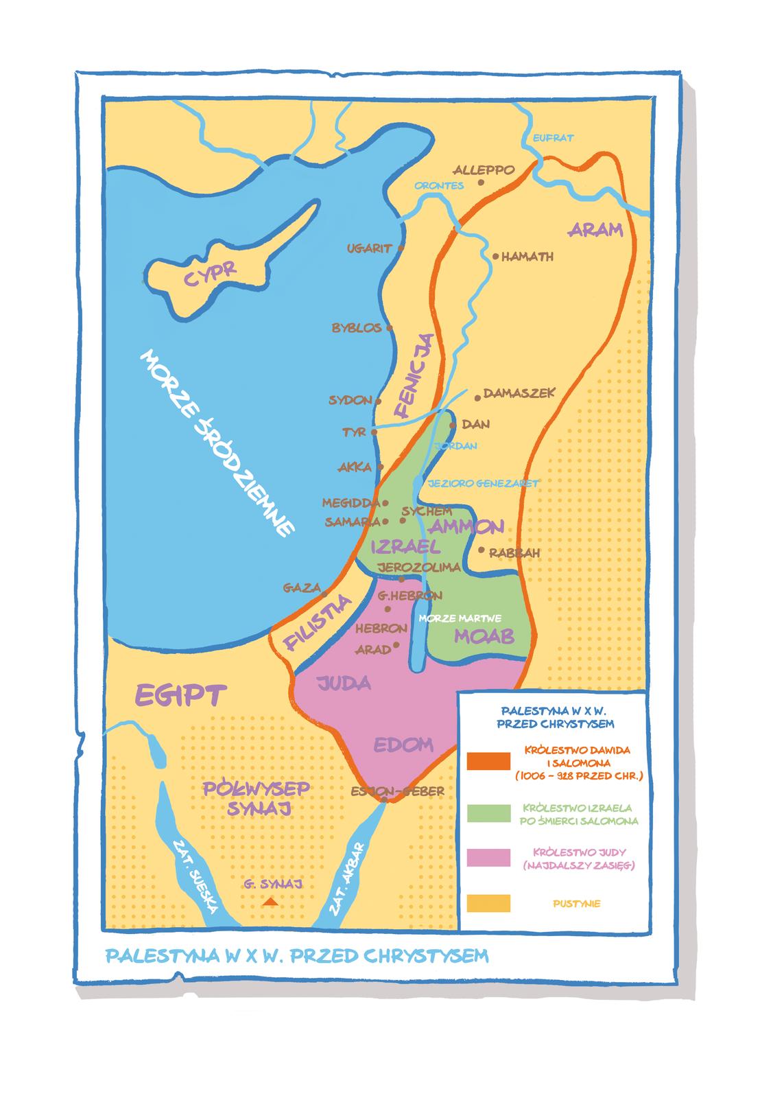 mapa palestyna Źródło: Uniwersytet Wrocławski.