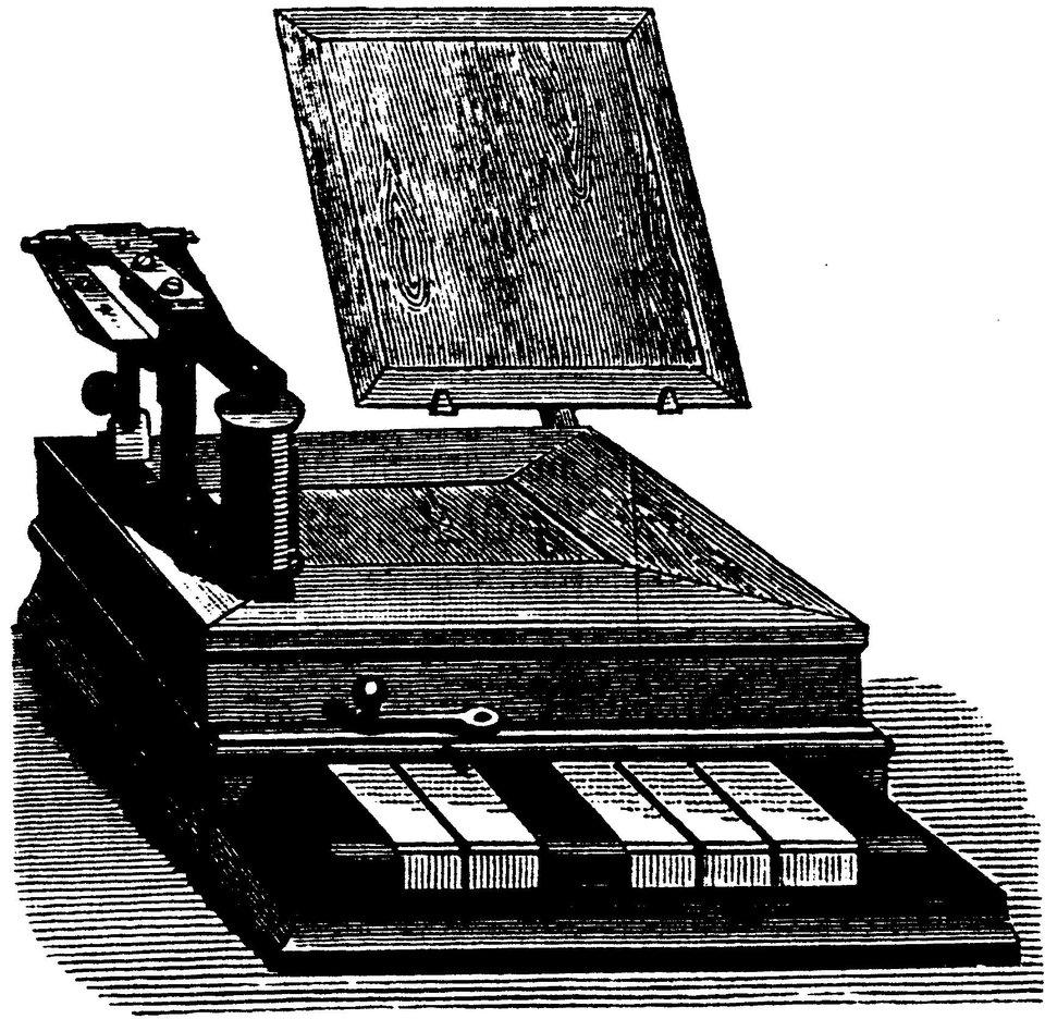 Ilustracja przedstawiająca telegraf
