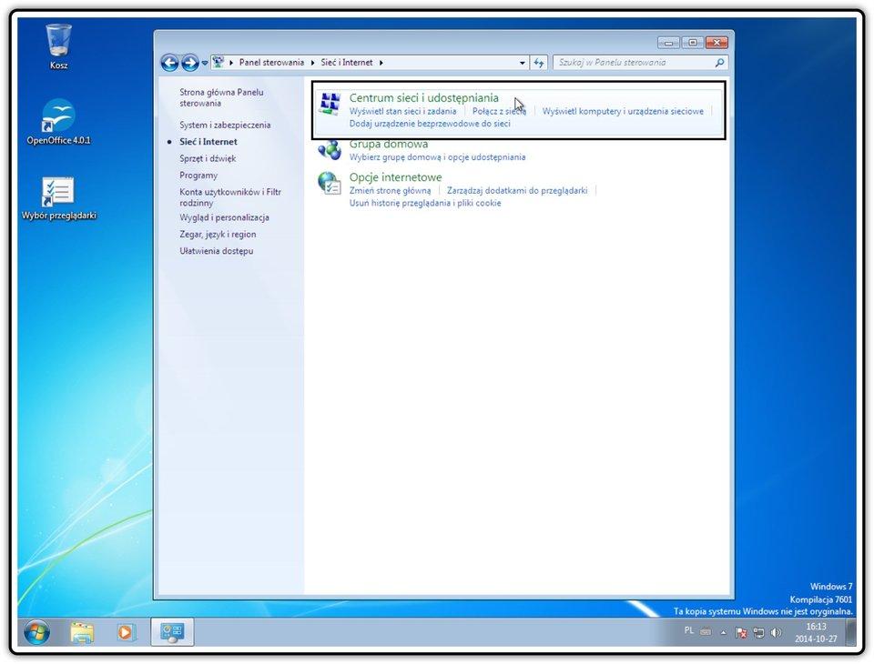 Ilustracja przedstawiająca: Krok 3 konfigurowania ustawień udostępniania wsystemie Windows