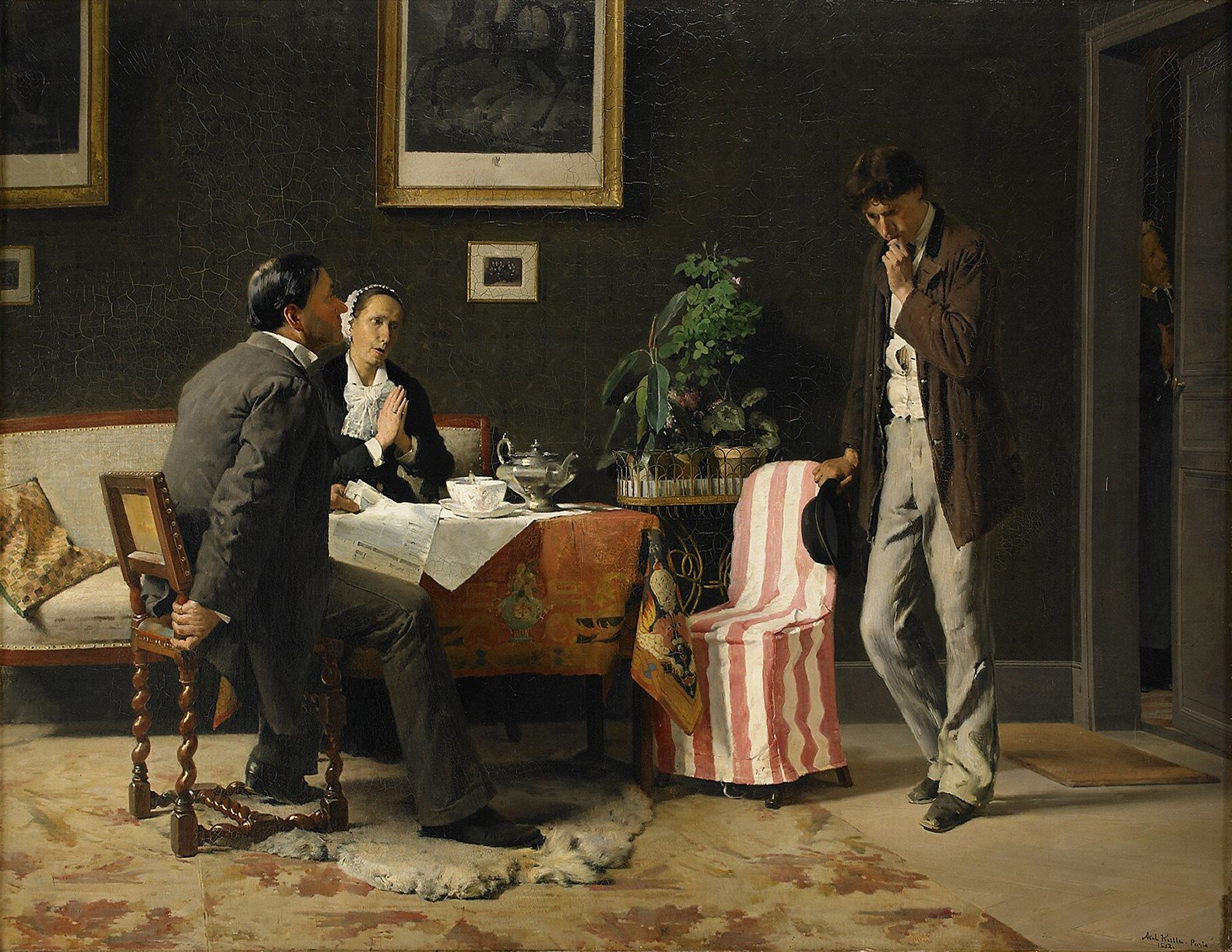 Powrót syna marnotrawnego Źródło: Axel Kulle, Powrót syna marnotrawnego, 1882, olej na desce, domena publiczna.