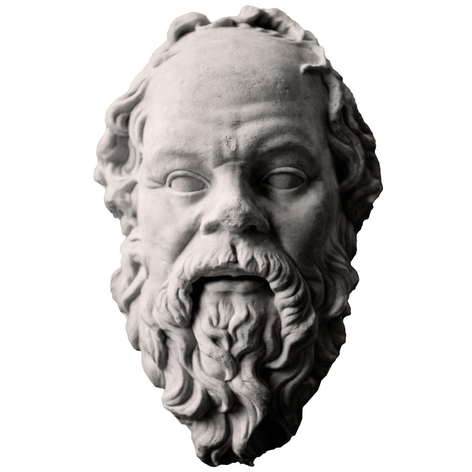Sokrates – podobiznaprzechowywana wLuwrze wParyżu Sokrates – podobiznaprzechowywana wLuwrze wParyżu Źródło: Derek Key, Wikimedia Commons, licencja: CC BY 2.0.