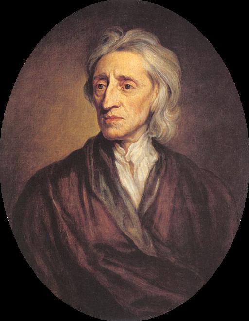 Portret Johna Locke`a Źródło: Sir Godfrey Knelle, Portret Johna Locke`a, olej na płótnie, Państwowe Muzeum Ermitażu wSankt Petersburg, domena publiczna.