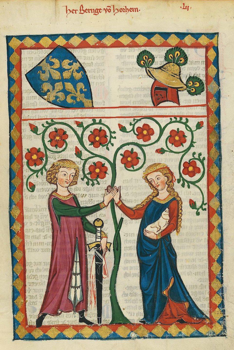 Kodeks zManesse Źródło: Kodeks zManesse , domena publiczna.